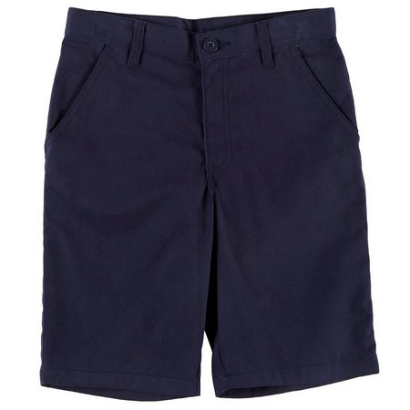 French Toast Big Boys Solid Adjustable Waist Shorts