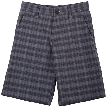 Burnside Big Boys Vegas Plaid Pocket Shorts