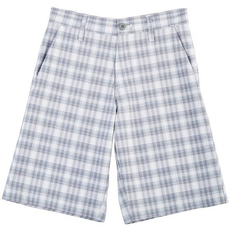 Burnside Big Boys Vegas Plaid Shorts