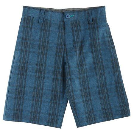 Burnside Big Boys Johnny Plaid Hybrid Shorts