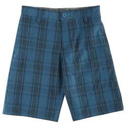 New! Burnside Big Boys Johnny Plaid Hybrid Shorts
