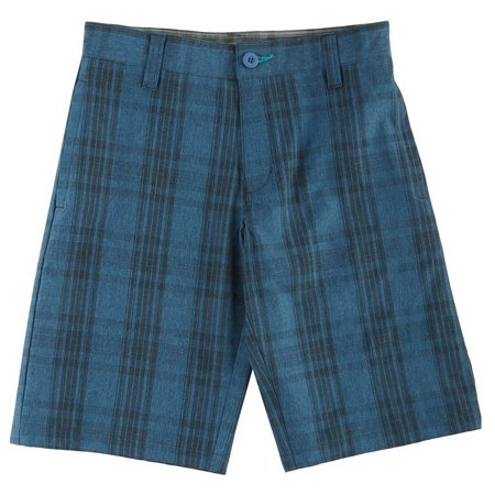 Burnside Big Boys Johnny Plaid Hybrid Shorts