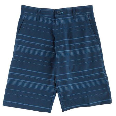 New! Burnside Big Boys Tonal Stripe Hybrid Shorts