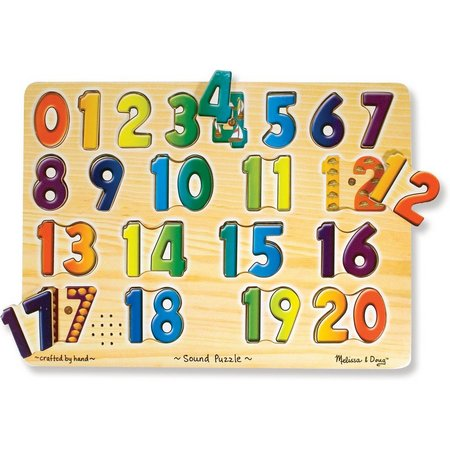 Melissa & Doug 21-pc. Numbers Sounds Puzzle