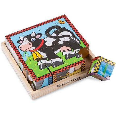 Melissa & Doug 16-pc. Farm Cube Puzzle