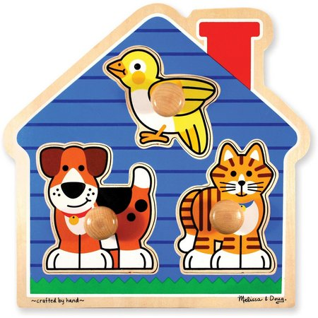 Melissa & Doug 3-pc. House Pets Jumbo Knob