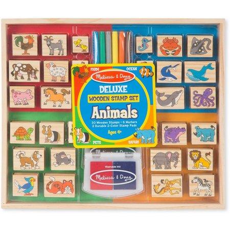 Melissa & Doug Wooden Animals Stamp Set