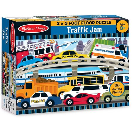 Melissa & Doug 24-pc. Traffic Jam Floor Puzzle