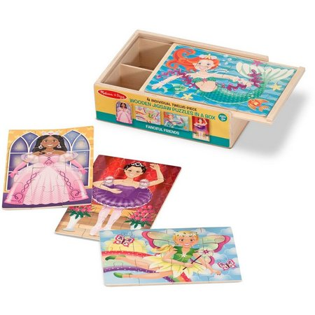 Melissa & Doug 48-pc. Fanciful Friends Puzzle Box