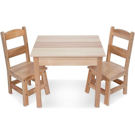 Melissa & Doug 3-pc. Wooden Table & Chairs