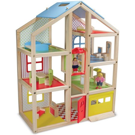 Melissa & Doug High-Rise Dollhouse & Furniture Set