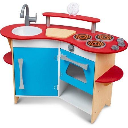 Melissa & Doug Cook's Corner Wooden Play Kitchen