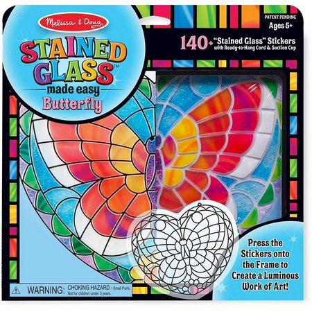 Melissa & Doug Stained Glass Butterfly Sticker Kit