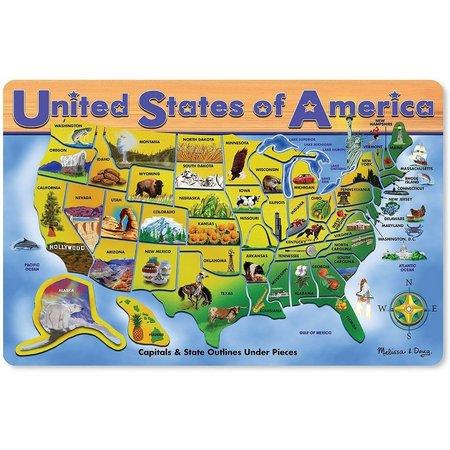 Melissa & Doug Wooden USA Map Puzzle