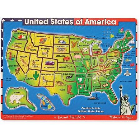 Melissa & Doug 40-pc. USA Map Sound Puzzle
