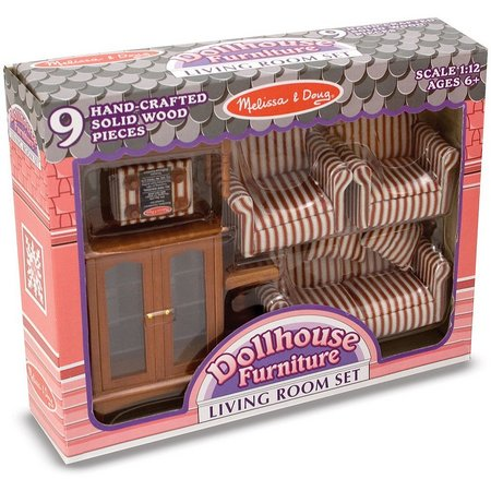 Melissa & Doug Living Room Dollhouse Furniture Set