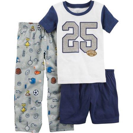 Carters Toddler Boys 3-pc. Football Jersey Pajama Set