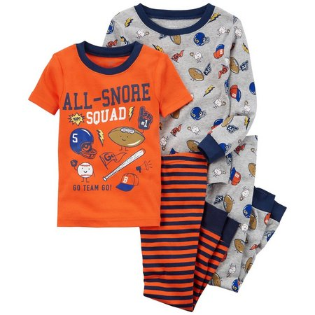 Carters Toddler Boys 4-pc. All-Snore Pajama Set