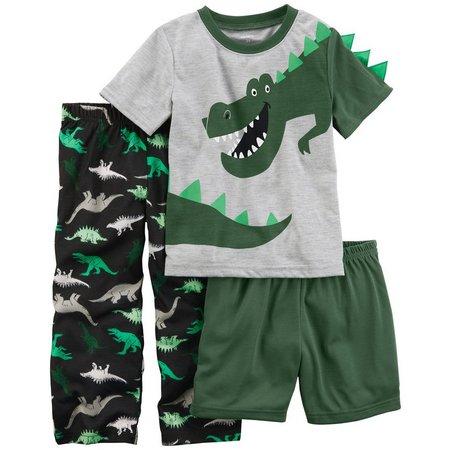Carters Toddler Boys 3-pc. Dinosaur Pajama Set