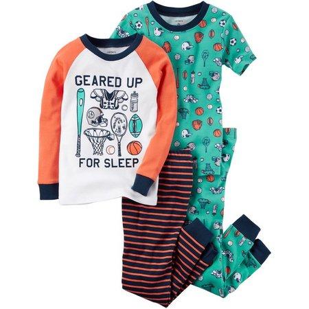 Carters Little Boys 4-pc. Geared Up Pajama Set