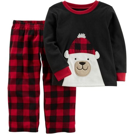 Carters Little Boys Holiday Polar Bear Pajama Set