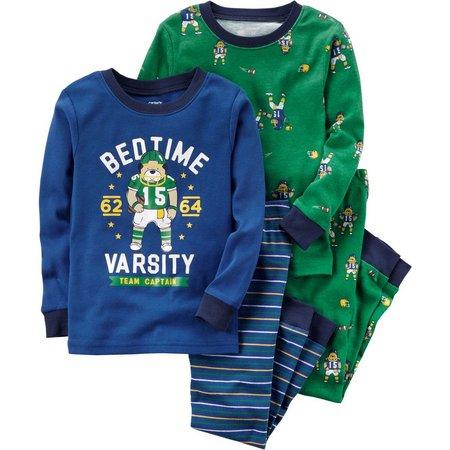 Carters Little Boys 4-pc. Bedtime Team Pajama Set
