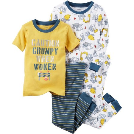 Carters Toddler Boys 4-pc. Grumpy When Woken Pajama