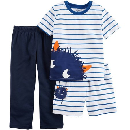 Carters Toddler Boys 3-pc. Monster Pajama Set