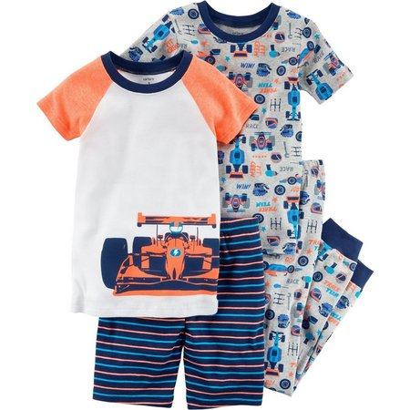 Carters Little Boys 4-pc. Racecar Pajama Set