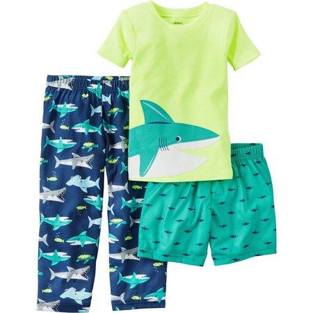 Carters Toddler Boys 3-pc. Shark Pajama Set