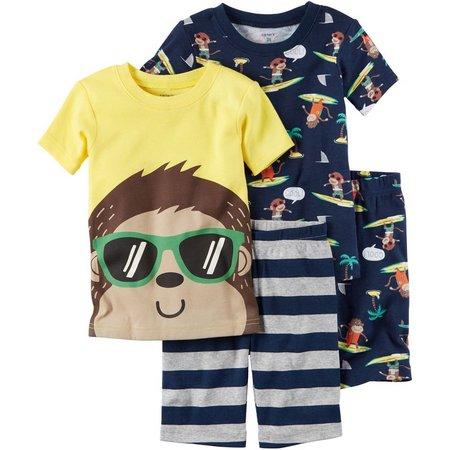 Carters Toddler Boys 4-pc. Surf Monkey Pajama Set