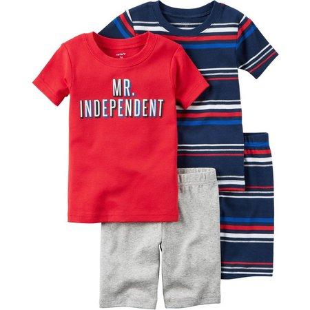 Carters Toddler Boys 4-pc. Independent Pajama Set