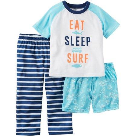 Carters Little Boys 3-pc. Surf Pajama Set
