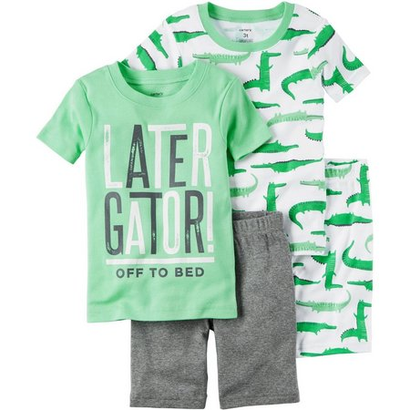 Carters Little Boys 4-pc. Later Gator Pajama Set