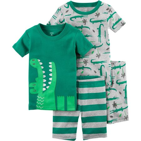 Carters Toddler Boys 4-pc. Gator Pajama Set