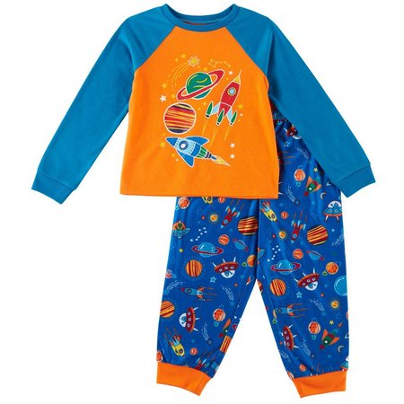 Komar Kids Toddler Boys Glow Rocket Pajama Set
