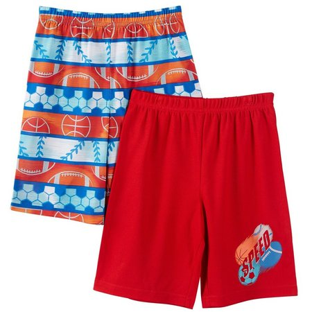 Komar Kids Big Boys 2-pk. Sports Pajama Shorts