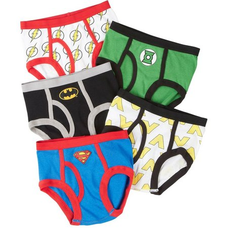 Justice League Boys 5-pk. Brief Underwear