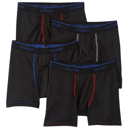 New! Hanes Boys 4-pk. X-Temp Boxer Briefs