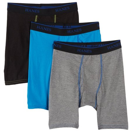 Hanes Boys 3-pk. X-Temp Longer Length Briefs