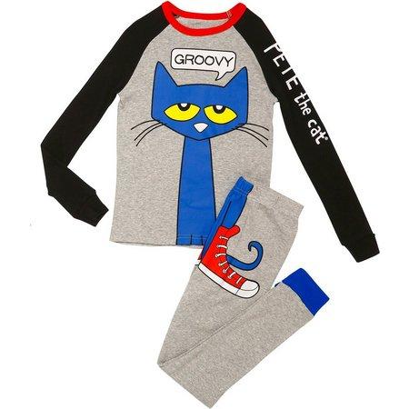 Pete The Cat Little Boys Groovy Pajama Set