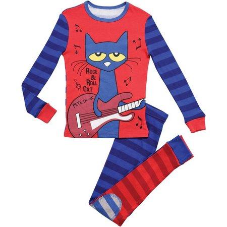 Pete The Cat Toddler Boys Guitar Pajama Set