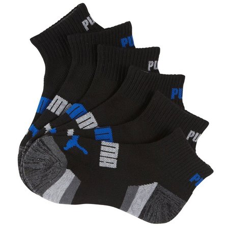 Puma Boys 6-pk. Quarter Crew Socks
