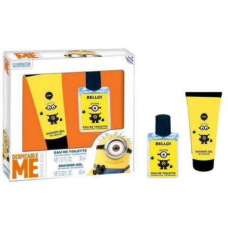 New! Minions Boys Shower Gel & Cologne Set