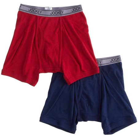 Jockey Boys 2-pk. Cotton Performance Boxer Briefs