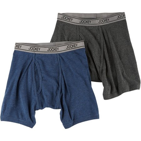 Jockey Little Boys 2-pk. Heather Boxer Briefs