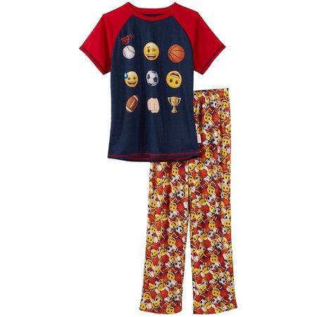 Emoji Big Boys 100% Pajama Set