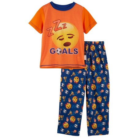 Emoji Big Boys Goals Pajama Set