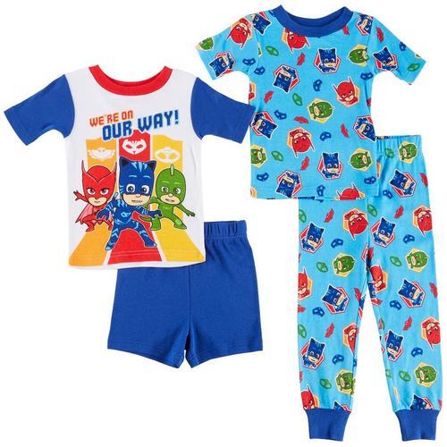 Disney PJ Masks Toddler Boys 4 Pc. On Our Way Pajama Set