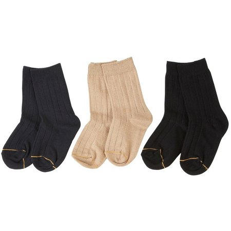 Gold Toe Boys 3-pk. Cotton Dress Socks